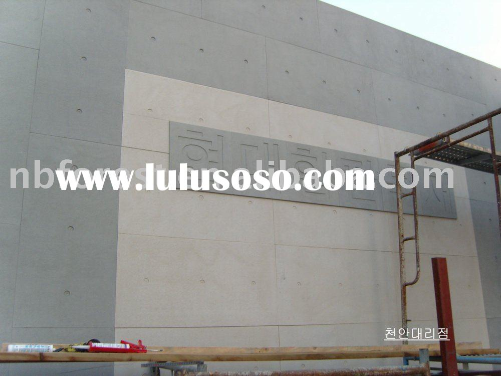 Fiber Cement board panel Wall Ceiling Sandwich concrete exterior interior fireproof solar wooden gra
