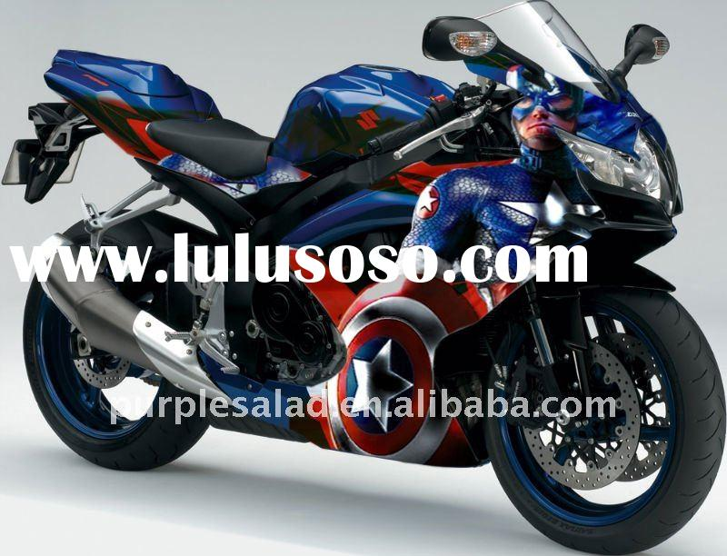 For Suzuki GSXR 600 K8 08-09 Captain America Hand Painted Fairing Kit + Heat-Shield Technology + Jap