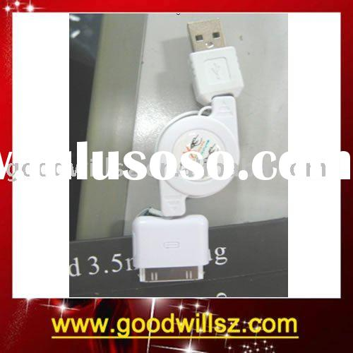 For iPod USB Data Cable Retractable