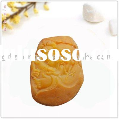 GDZR1301 old topaz gem precious semi stone carving