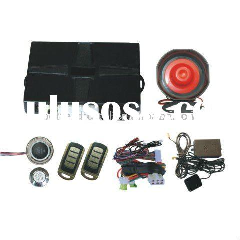 GSM car alarm with tracking and mobile phone start engine