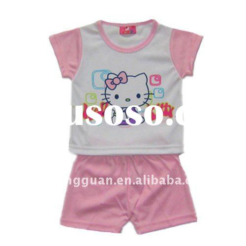 Hello Kitty Summer Clothes Set for Kids Girl
