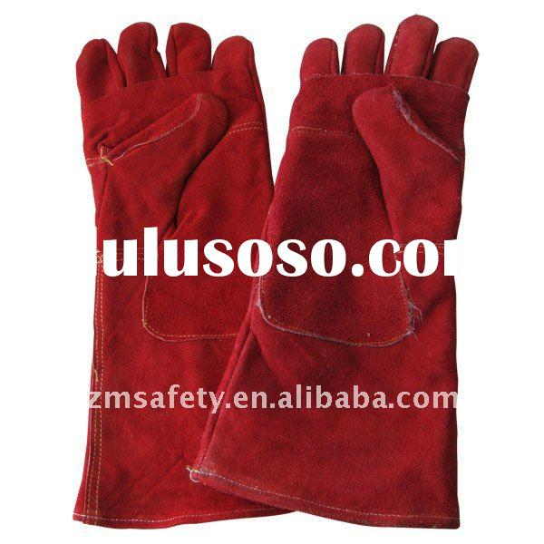 High Quality Cow Split Leather Welding Hand Gloves