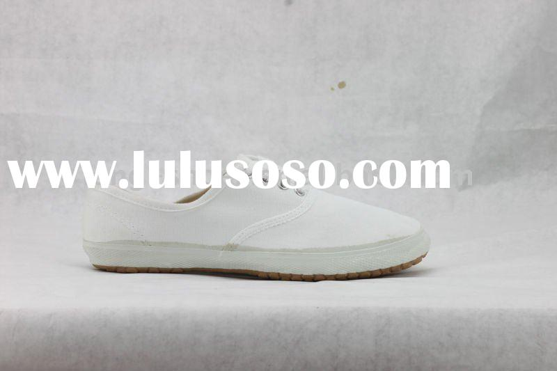 High Quality Simple White Canvas Shoes Women