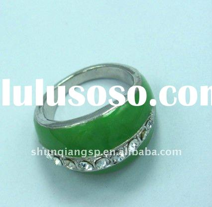 Hotsale Stainless Steel Custom Jewelry Fashion Casting Ring with Crystal Factory Price High Quality