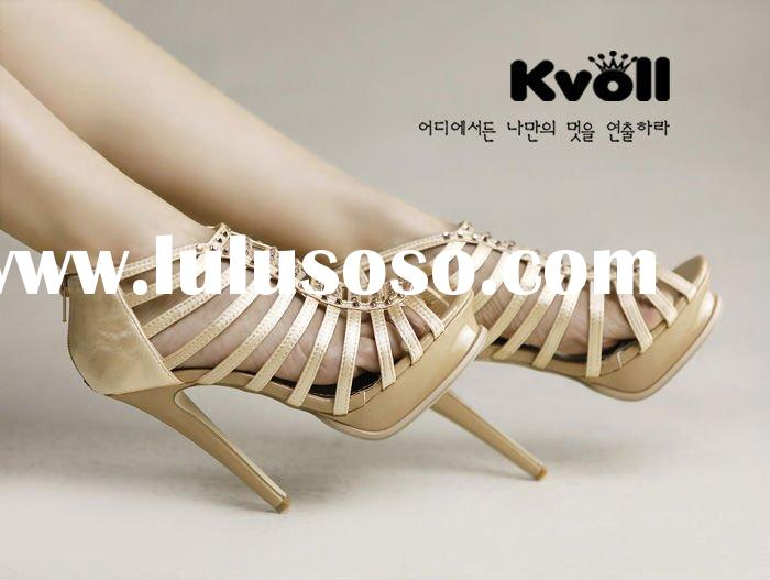 Korea kvoll 2011 hot sell latest women shoes summer sandals cheap
