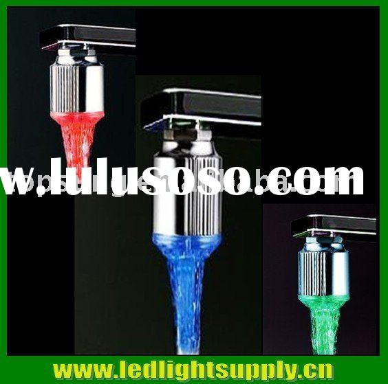 LED faucet light with color changing