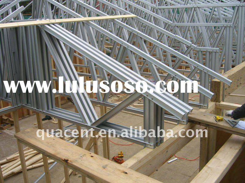 Free sample steel roof truss design example free sample for Pre made trusses price