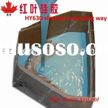 Liquid silicon rubber for cement product molding