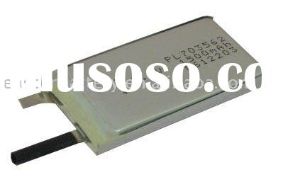 Lithium ion Polymer battery:3.7V 1500mAh (2C, 5.55Wh, 3A rate) for helicopter