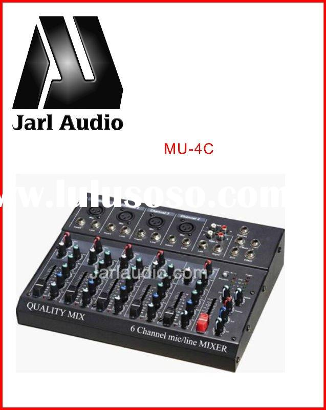 MU-4C digital audio pro mixer Ultra low noise professional mixer console with 6/8 Channels Mixer;