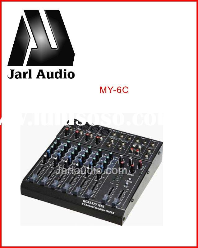 MY-6C audio pro mixer Ultra low noise professional mixer console with 6/8 Channels Mixer;