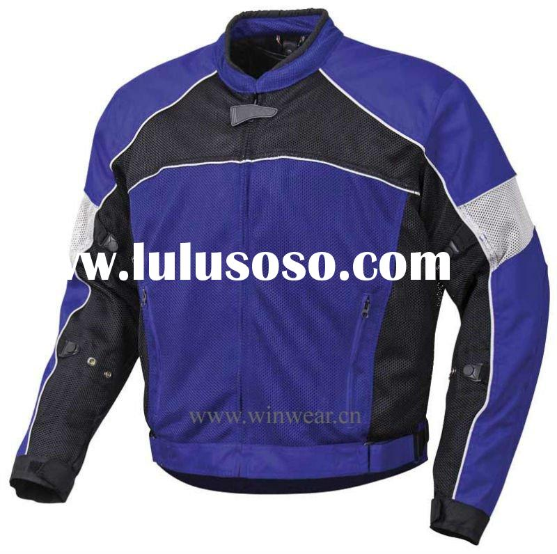 Men's 100% polyester mesh fabric outdoor motorcycle jacket (JK-3303)