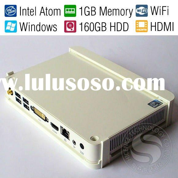 Mini PC Nettop Netbox HTPC TVbox Plasma TV HD player/Dual Core 1.6GHz/HDMI/1080P/WiFi/RJ45 Port/SD C