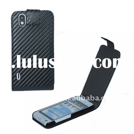 Mobile phone case leather case for LG Optimus Black P970 Carbon Fiber