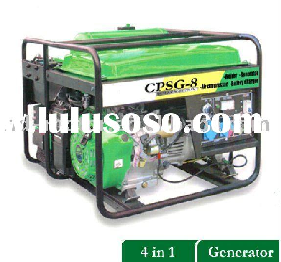 Multi-Fuction Gasoline Generator Welder Air Compressor& Battery Charger Even Pressure Cleaner
