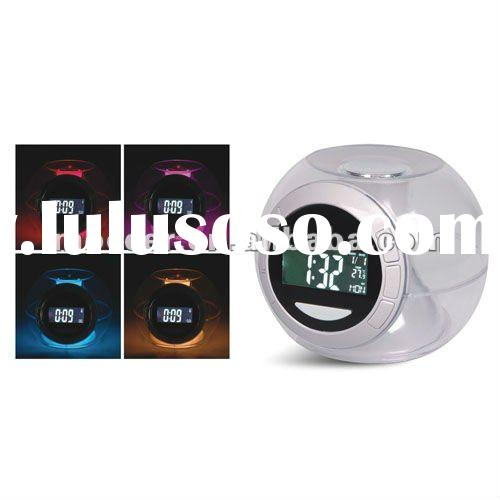 Natural Sound Clock with FM Radio and Mood light clock and 7 color light changing