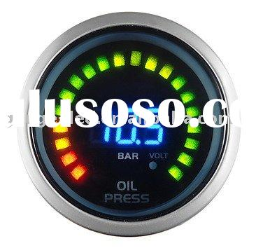 Oil Pressure Gauge (Auto Meter / Racing Gauge 52mm digital 2 in 1 Oil Pressure with Volt)