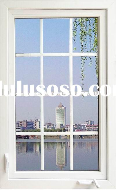 PVC Windows: Outward Casement Window with Manual Opener / Operator( with mesh screen)