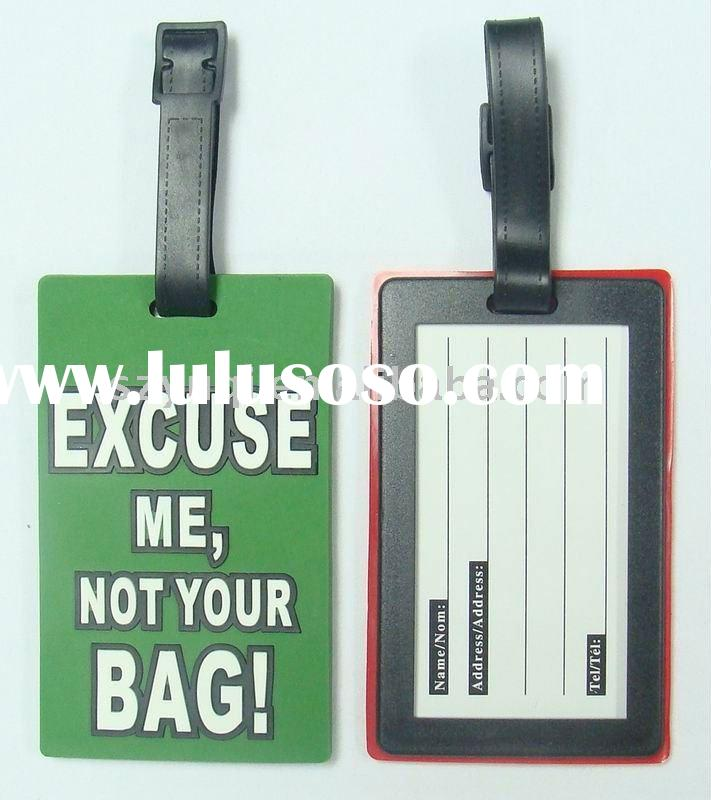 PVC luggage name tag;Make your own luggage tag