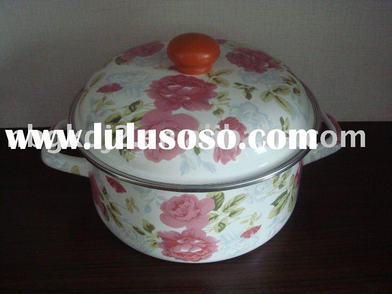 Porcelain Enamel Cookware With Full Design