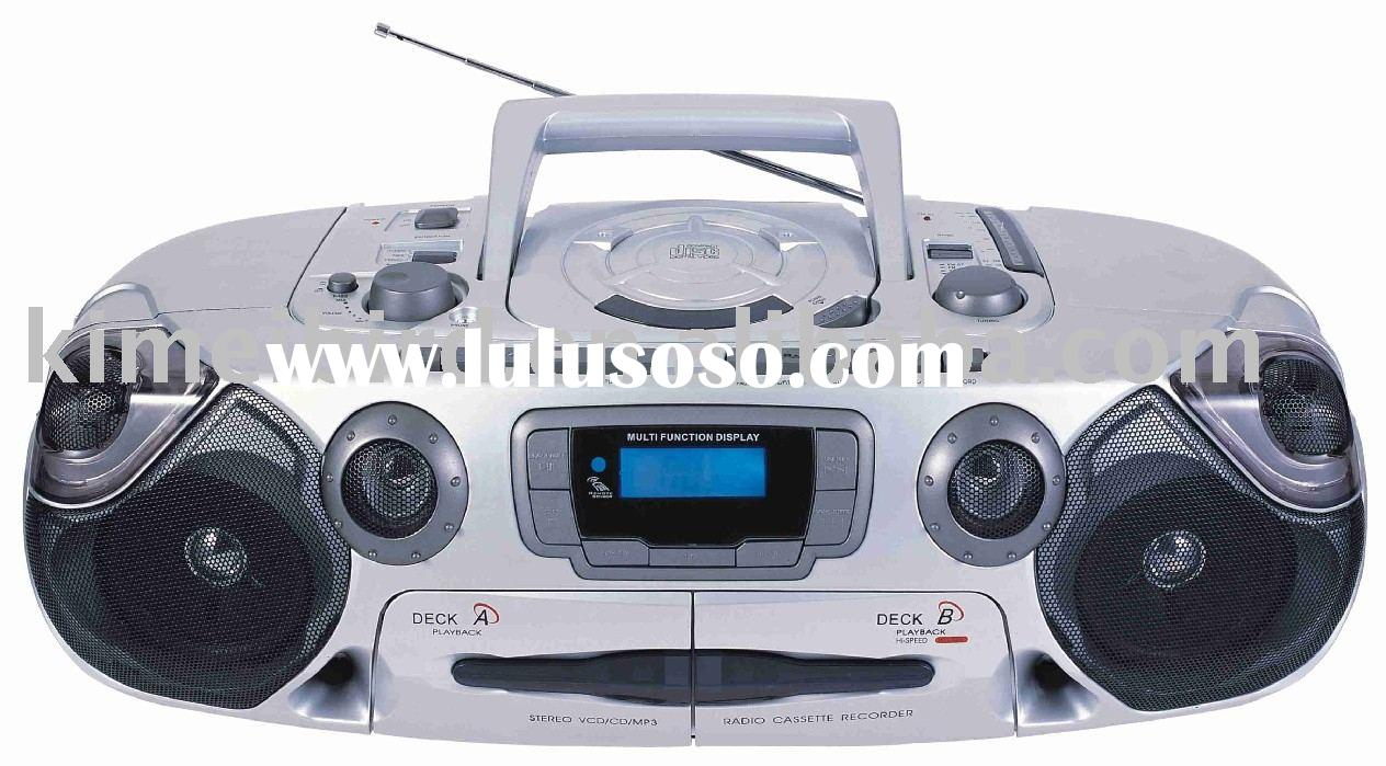 Portable CD/VCD/DVD MP3 Player Boombox