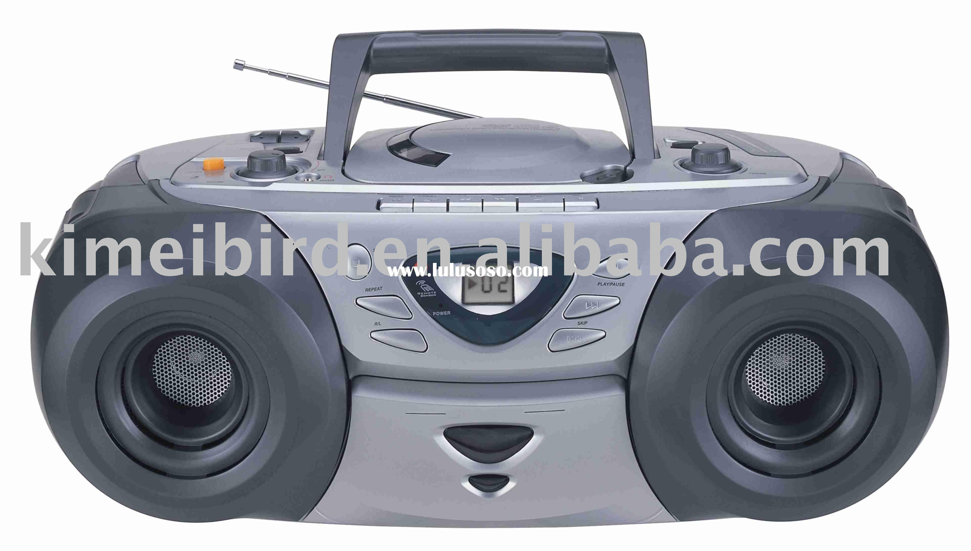Portable CD/VCD/DVD Player Boombox