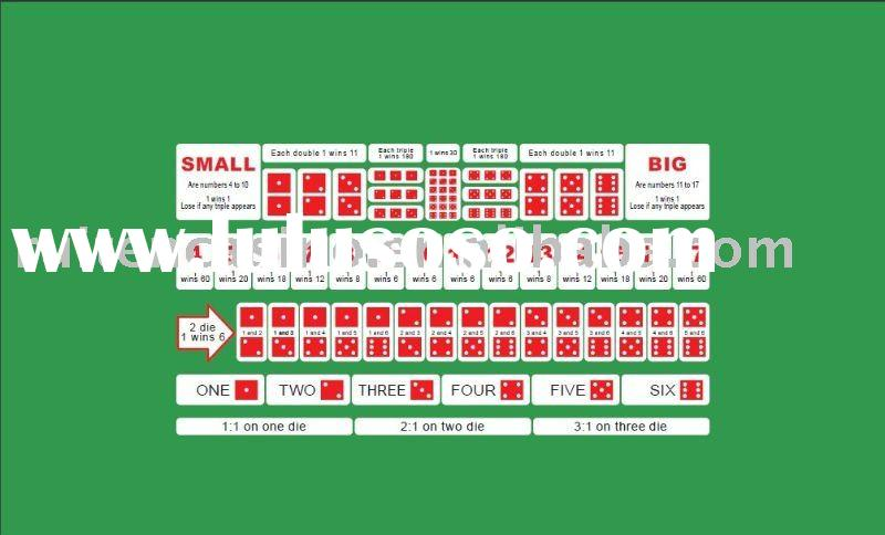 Pro Big &small Dice table cloth,poker cloth,poker layout,gambling layout