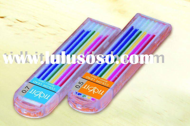 Pure color mechanical pencil lead in tube