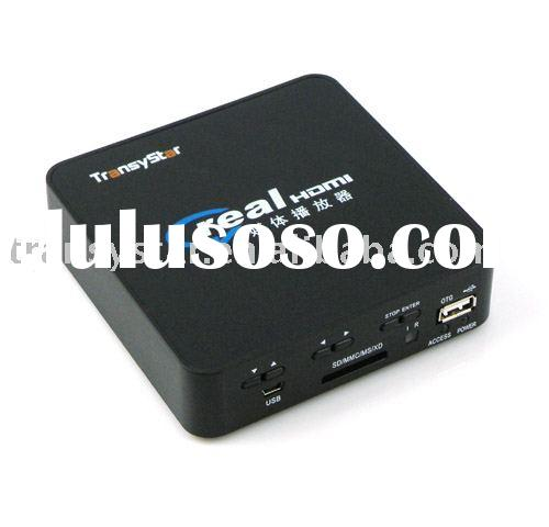 """Real Video 2.5"""" HDD Media player with HDMI VGA"""