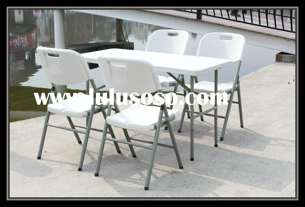 Rectangular folding party tables and chairs