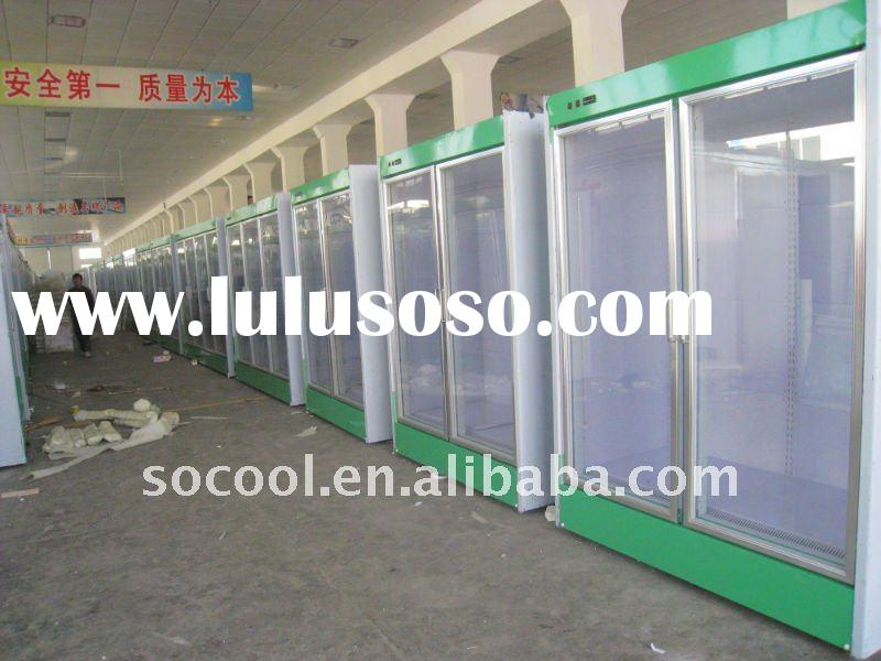 Refrigerator for Supermarket, Glass Door Deep Freezer