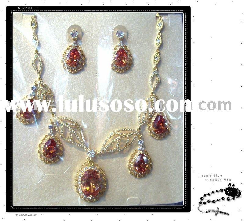 Rhinestone jewelry sets .costume jewerly ,Fashion necklace sets