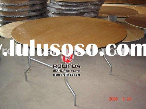 Round Table with wood top /banquet foldiing table series