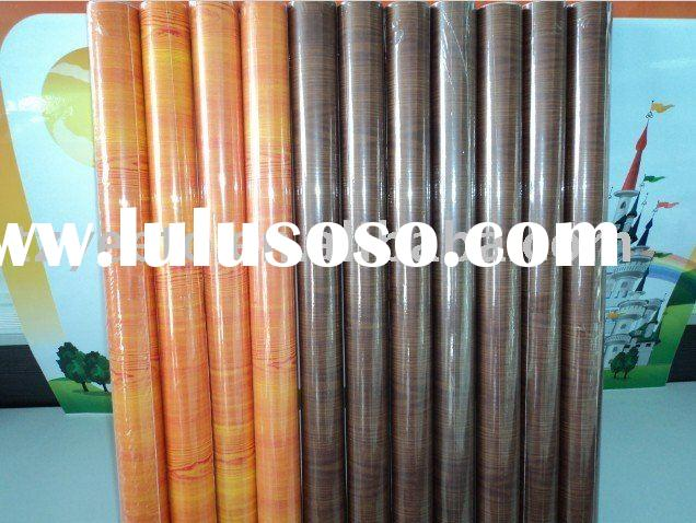 Self adhesive wood grain vinyl film
