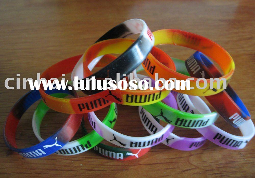 Silicone Bracelets with Silkscreen Printing, Suitable for Promotional Purposes