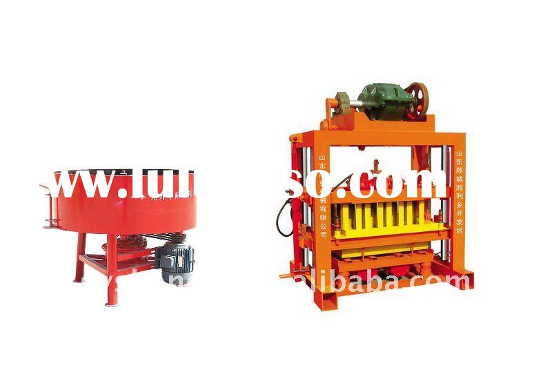 Small Manual cement hollow block shaping machine(QTJ4-40B)hollow block&solid brick moulding mach