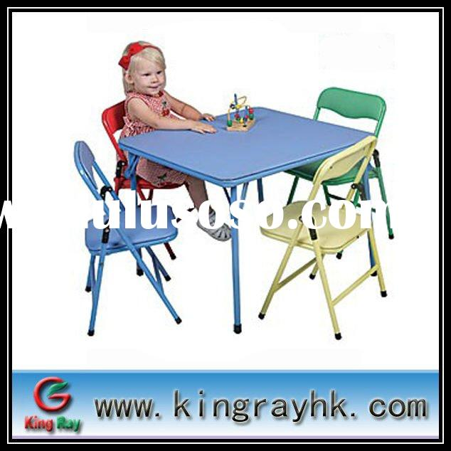 Small kids folding table and chair