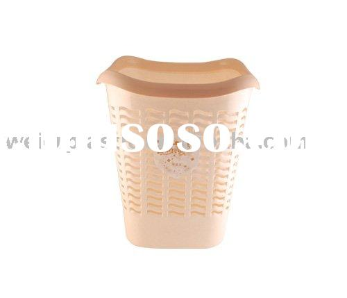 Small square plastic waste paper basket / dustbin (Secret Of Flower series )