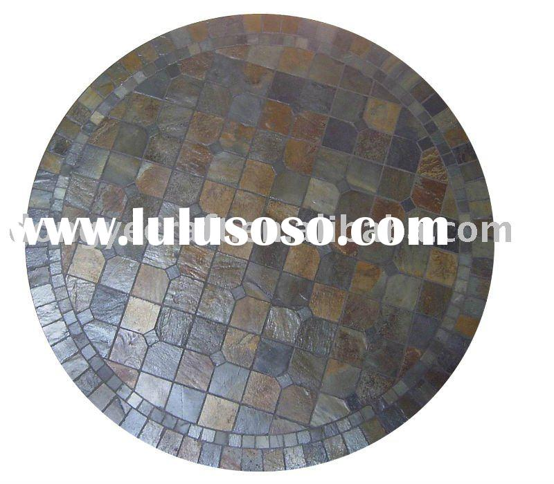 Stone tabletop (round table top,mosaic tile table ,mosaic topping table)