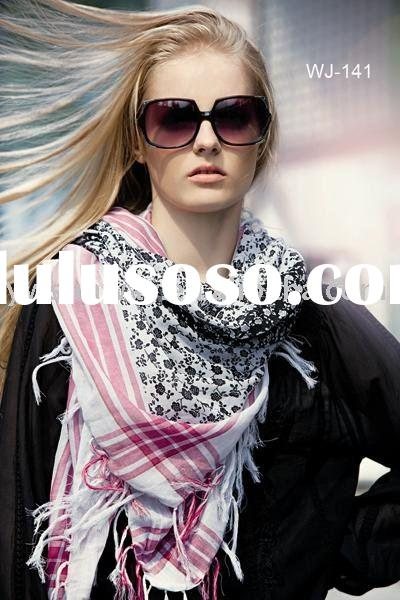 Sunway Lady Fashion Square Cotton Scarf