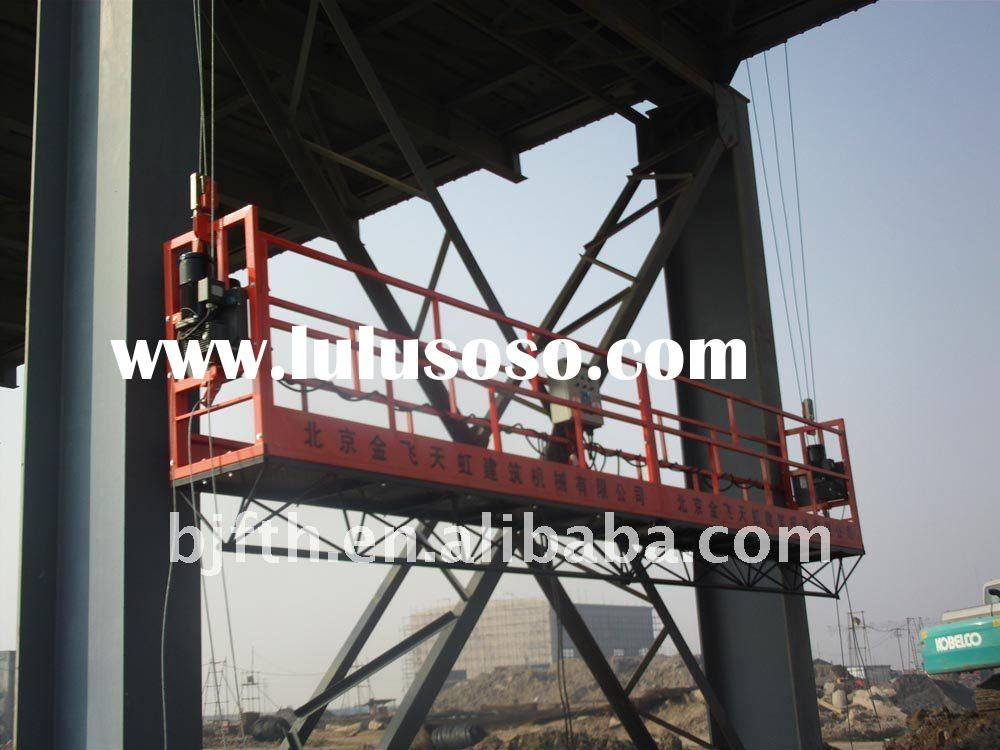 Suspended working platforms for building a bridge