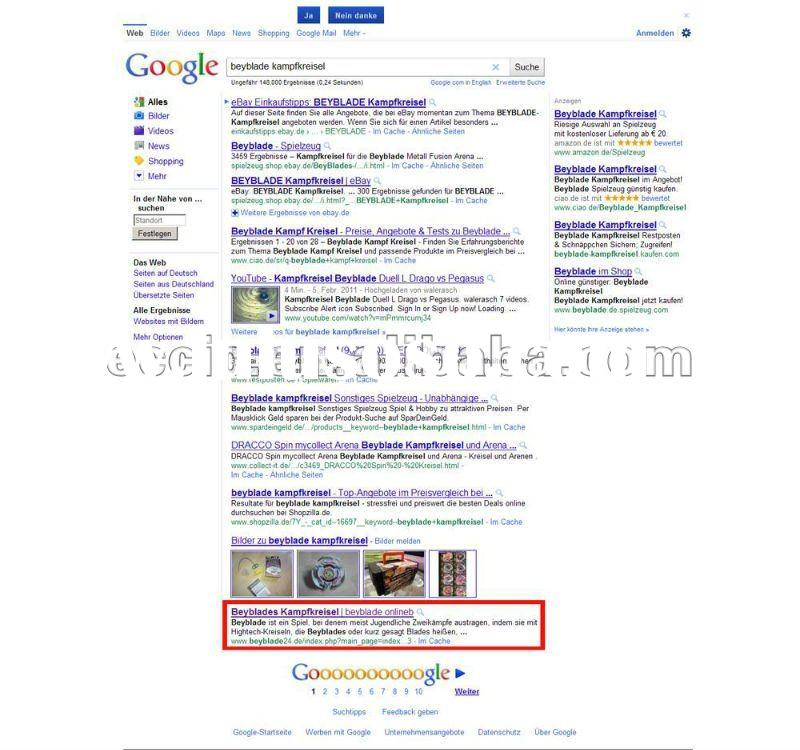 TOP 10 of google with professional SEO