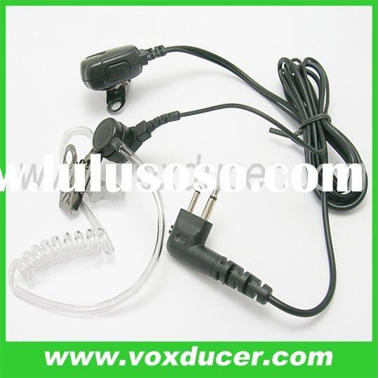 Two way radio accessory Acoustic tube PTT Earpiece Microphone for Motorola 2 pin UHF VHF GTI GTX PMR