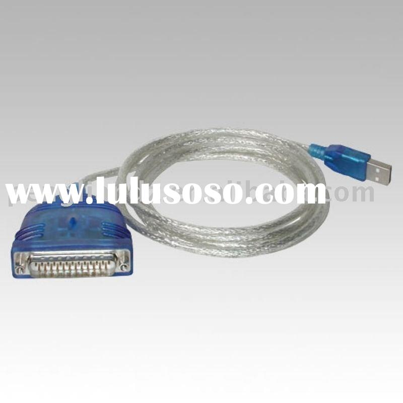 USB A Male to Modem/Serial DB25 Male Adapter Cable