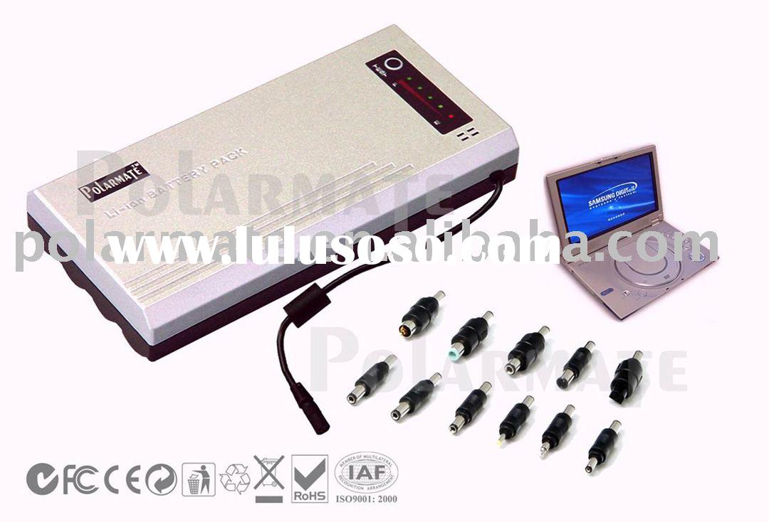 Universal Rechargeable Lithium Battery Pack for Portable DVD player or TV 9V/12V