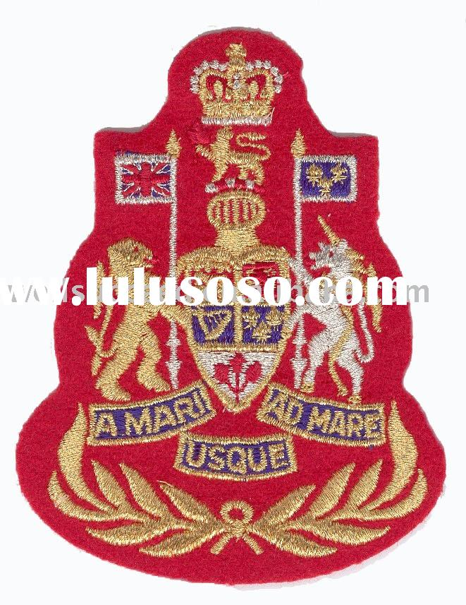Velcro-back Embroidery Patches, Army Patches, Navy Patches, Military Patches, Military Badges, Canad