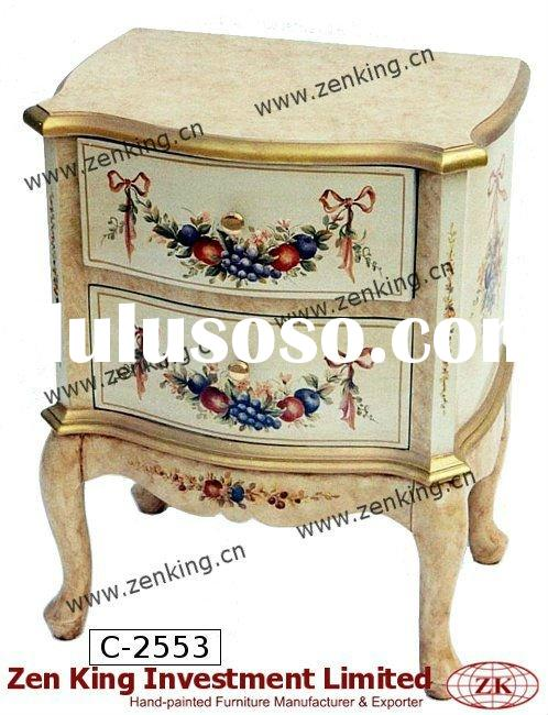 Victorian Style Wooden Commode / Bedside Cabinet