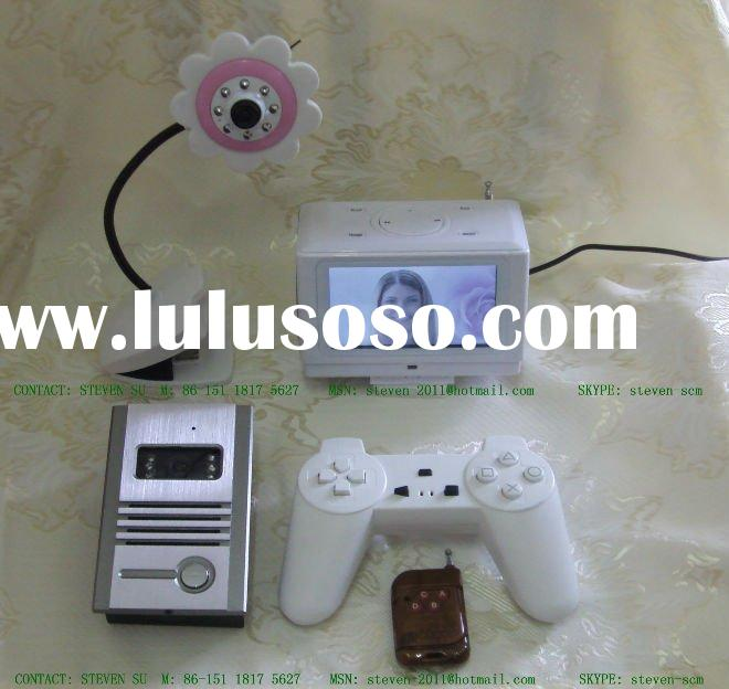 Video Door Phone +Baby Monitor + MP5 Boom Box / 2.4GHz Security Camera