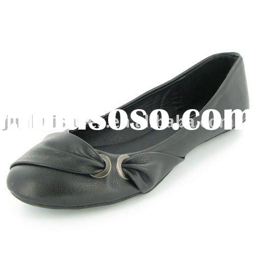 WOMENS BLACK FLAT BALLET PUMP/SHOES LADIES SHOES